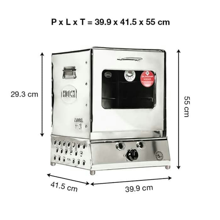 Oven Gas Hock Portable Stainless Steel / Oven Hock Stainless HO-GS103 / Oven Gas / Oven kompor / Oven stainless