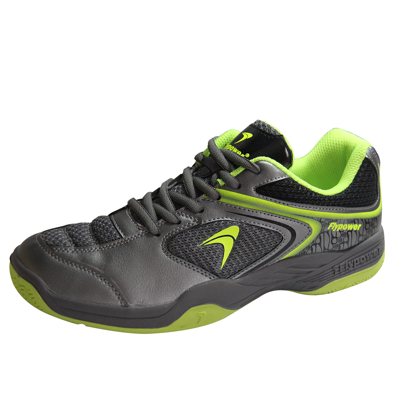 Jual Flypower Pawon 3 Sepatu Badminton - Dark Grey Lime Green   Black Dark  Grey EUR 38 flypower 2656ec90d9