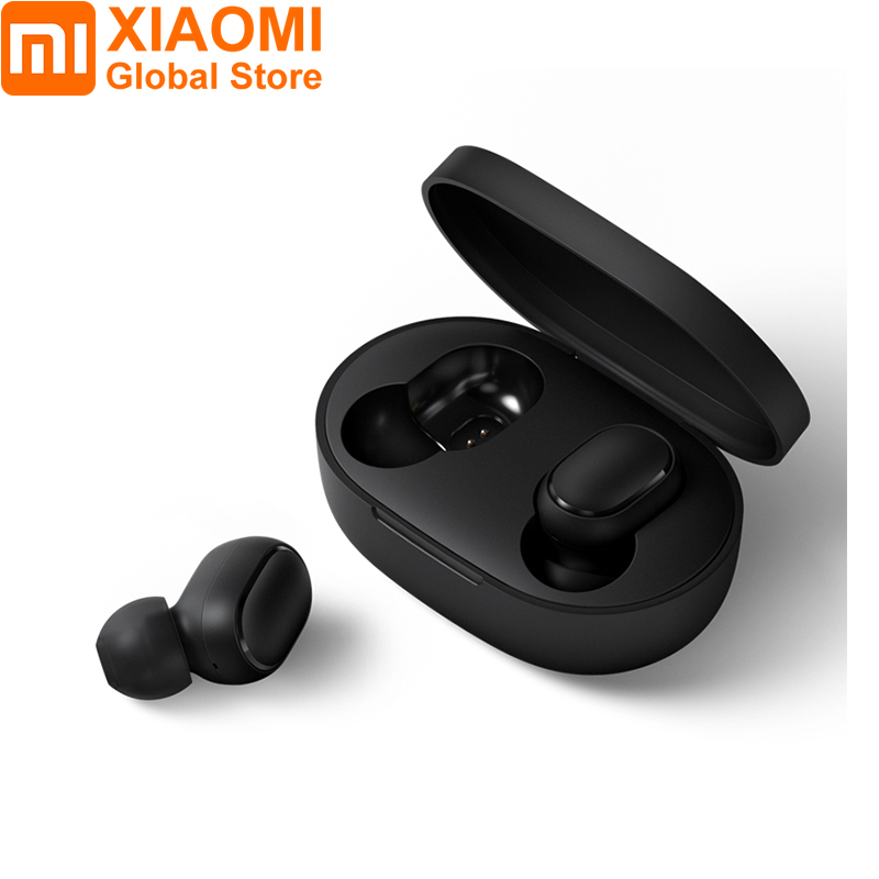 Xiaomi Redmi Airdots TWS Bluetooth 5.0 Earphone DSP Noise Cancelling Earbuds Auto Pairing Bilateral Call Stereo True Wireless Black