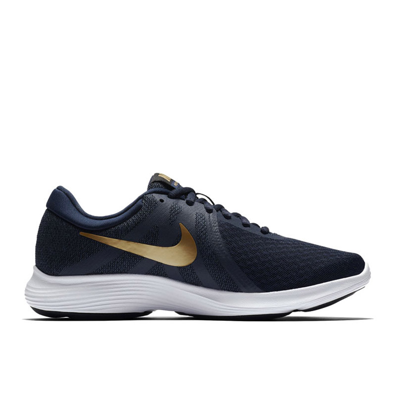 34960f3ea43ceb Jual NIKE Women s Nike Revolution 4 Running Shoe - Obsidian Metallic Gold-Black-White   US 8  908999-406 JD.id
