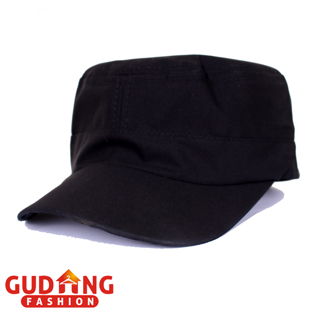 Jual Gudang Fashion Topi Komando Polos - Black   TOP 14+A Gudang Fashion ab5612a985