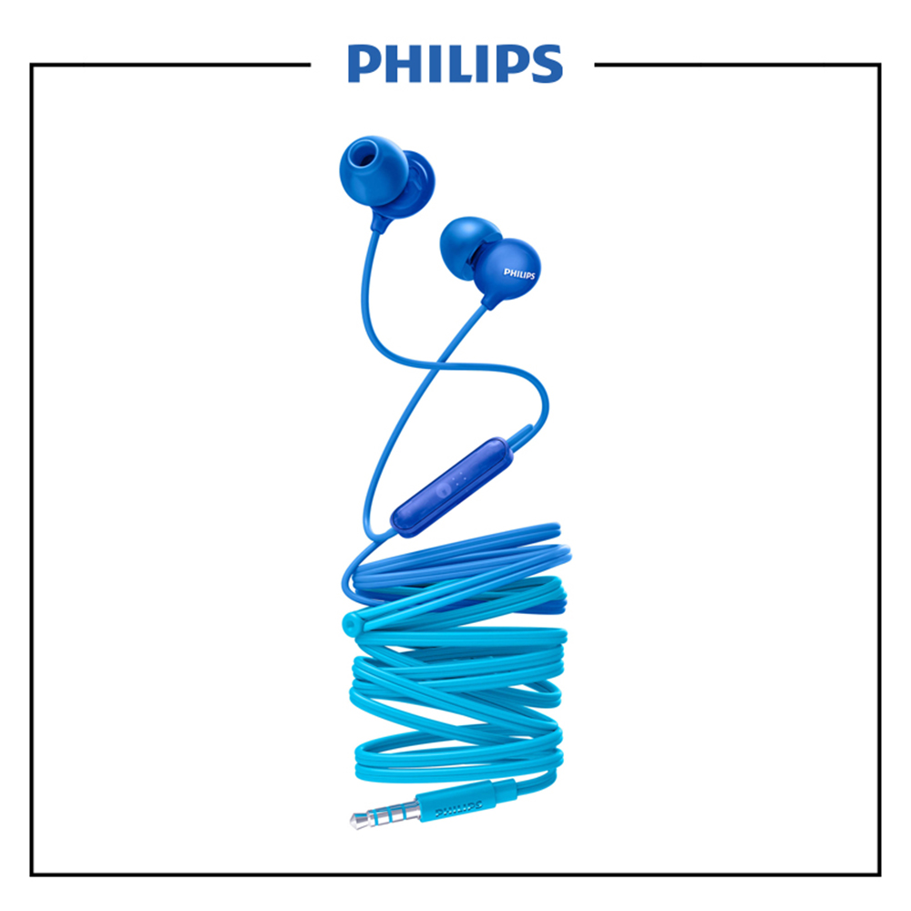 PHILIPS Earphone with Mic - SHE 2405 - Blue