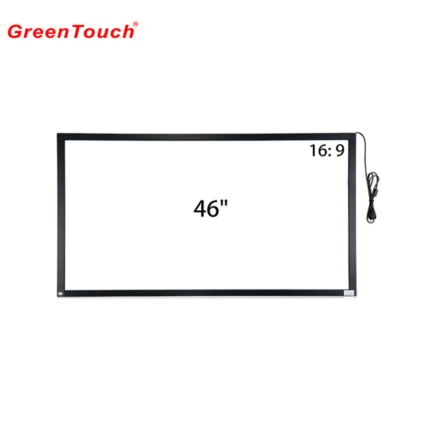 46 inch infrared ir sensor multi touch screen , ir touch screen kit Black Frame with red 46