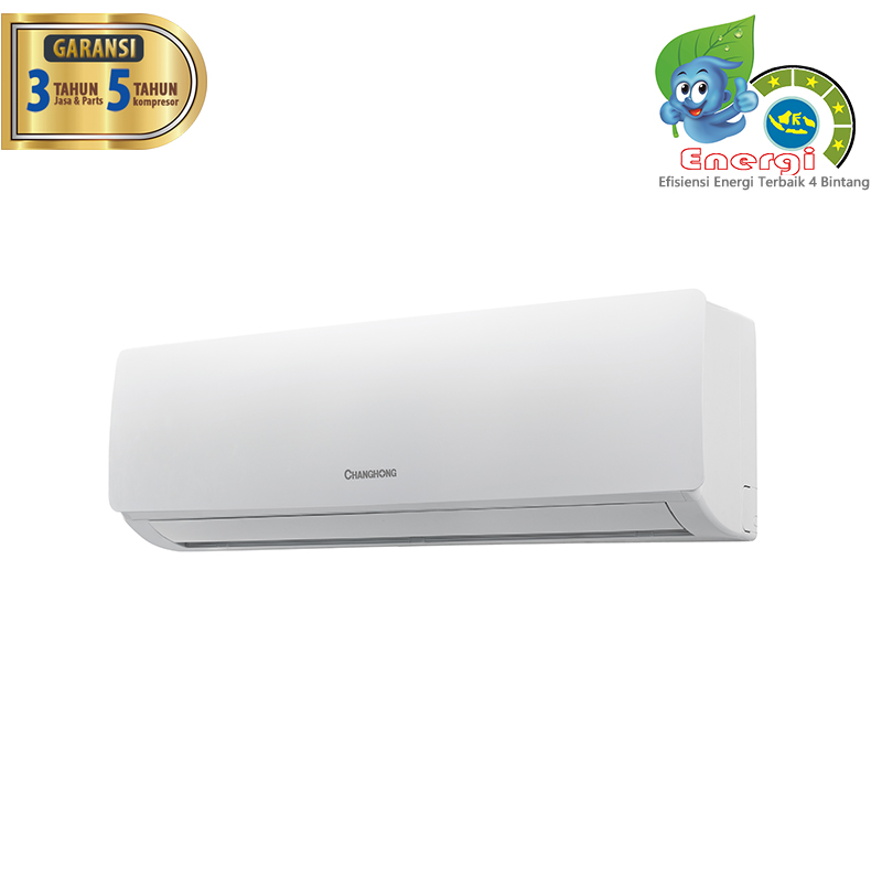 CHANGHONG AC Split Deluxe Double Gold Fin 1/2 PK - CSC 05NVB2 [INDOOR + OUTDOOR UNIT ONLY]