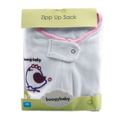 BOOGY Baby Zipp Up Sack Girl White