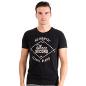 3SECOND Printed Graphic Basic Tee - Black