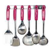 VICENZA Kitchen Tools S/S VK915C Set 7 Buah - Pink
