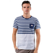 3SECOND Pocket Striped Tee - White