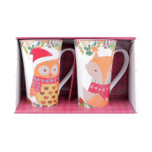 222 FIFTH Tall Mug - Set of 2 - Christmas Friend