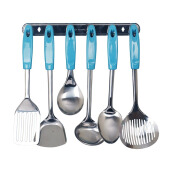 VICENZA Kitchen Tools S/S VK915C Set 7 Buah - Biru Muda