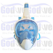 Alat Selam Godive Next Generation Full Face Mask MF-004-LightBlue Light Blue