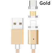 Smatton 3 in 1 Magnetic Phone Kabel Data Lighting Type-C Micro USB Charger Cable For iPhone 6 7 8 X Samsung Android