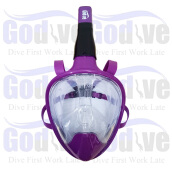 Promo Alat Selam Godive Next Generation Full Face Mask MF-003 Purple