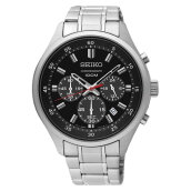 Seiko Chronograph SKS587P1 Men Black Dial Stainless Steel Strap [SKS587P1]