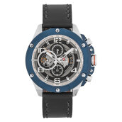 Expedition E 6752 MC LTUBA Man Chronograph Black Dial Black Leather Strap [EXF-6752-MCLTUBA]