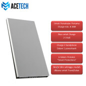 Acetech Powerbank 12500mah - Power Bank 12500 mAh - powerbank Slim Grey