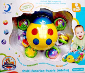 MAINAN EDUKATIF BAYI MULTIFUNCTION PUZZLE LADY BUG