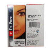 Dr-Pure Whitening Serum - Arbutin + Vit A -20ml