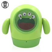 WH Wireless Sound Amplifier cute Portable Bluetooth Stereo Bass Speakers For Minions Kids Cartoon Gift With Mic For Mobile Phone