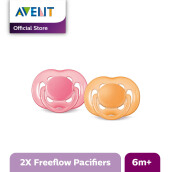 AVENT SCF178/24 Soother 6-18m Twin Free Flow - Pink-Orange