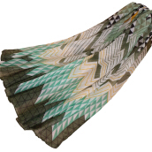 LAVEN urban literary striped print Bali yarn women's scarf