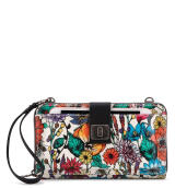 Sakroots Large Smartphone Crossbody Wallet Optic In Bloom