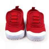Saneoo Velcro Prewalker Baby Shoes Red 6-12 Bln 6-12 Months