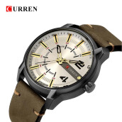 CURREN 8306 Men Quartz Watch Top Brand Luxury Leather Band Male Wrist Watches