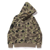 BAPE X UNDEFEATED CAMO SHARK ZIP HOODIE GREEN - C SIZE L
