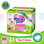 MERRIES Popok Pants Good Skin M 22