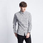 ART.TIK-ASMAT PRINT SHIRT LONG SLEEVES-Navy