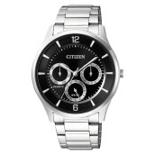 Citizen AG8351-86E Men Black Dial Stainless Steel Strap [AG8351-86E]