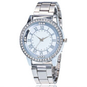 PEKY Women Stainless Steel Wrist Watchs Crystal Rhinestone Analog Quartz Bracelet Watch