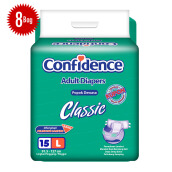 CONFIDENCE Adult Diapers Classic [L] Carton 15's x 8 bag