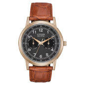 Citizen AO9003-08E Eco-Drive Men Black Dial Brown Leather Strap [AO9003-08E]