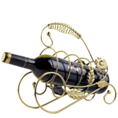 Vaping Dream - Retro Wine Champagne Bottle Rack Holder Wine Accessories Dekorasi Rumah Golden One Size