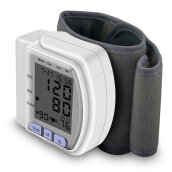 Digital Wrist Bp Blood Pressure Monitor Meter Sphygmomanometer with Wriatband White