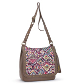 Sakroots Seni Flap Crossbody Bag Berry Brave Beauti