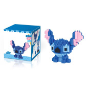 Jantens Cute Cartoon Stitch Building Blocks Toy blue