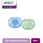 AVENT SCF178/24 Soother 6-18m Twin Free Flow - Green-Blue