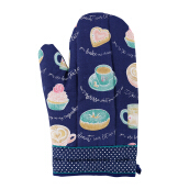 ARNOLD CARDEN Oven Mitts Like Espresso Right Side - Blue 19x32cm