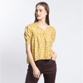 ART.TIK-GODONG CIPIR SHORT SLEEVES BLOUSE-Yellow