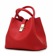 Jantens 2018 Vintage Ladies Handbag Fashion Brand Candy Bag Merah