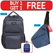 Polo Design Backpack 9052-06 + Sling bag 819-06 Blue Blue
