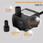 300 L/H Aquarium Fish Water Tank Water Pump EU