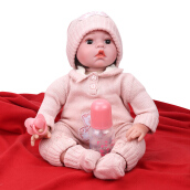 Soft Body Silicone Reborn Baby Doll Toy 55cm Pink