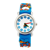 Keymao Bee Waterproof 3D Cute Cartoon Silicone Wristwatches Gift for Little Girls Boy Kids Children