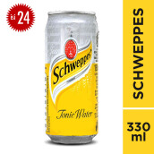 SCHWEPPES Tonic Water Can Carton 330ml x 24pcs