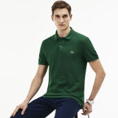 LACOSTE Men's Classic Fit Polo in Petit Pique - Green