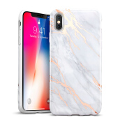 iPhone X Case, iPhone X Marble Case, ESR Slim Soft Flexible TPU Marble Pattern Cover for Apple iPhone X(Grey Gold Sierra)